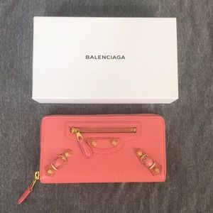 Balenciaga continental zip wallet